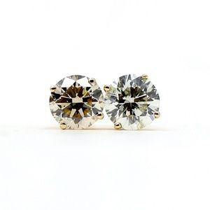 Diamond Studs Tiffany Style 3.51 Carat